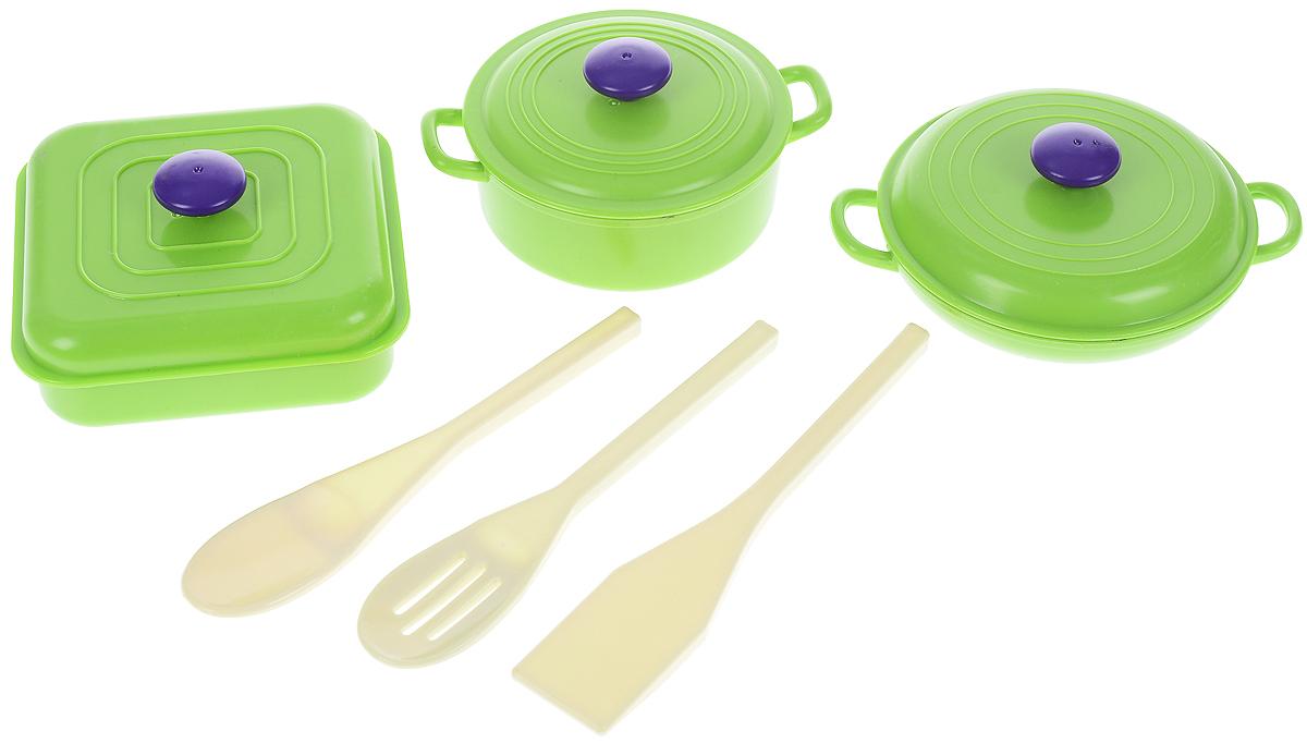 ABtoys Игрушечный набор посуды 6 предметов игровой набор abtoys помогаю маме с посудой и продуктами 8 пр