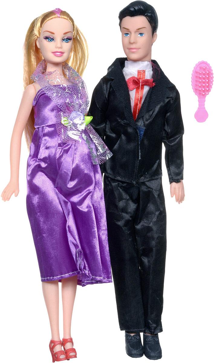 Shantou Набор кукол цвет одежды черный фиолетовый 2 шт