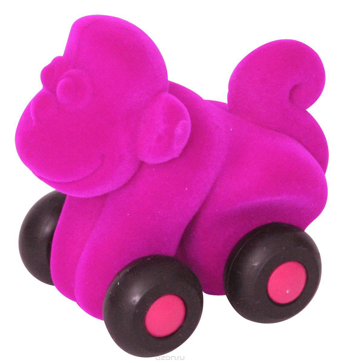 Rubbabu Фигурка функциональная Обезьяна цвет пурпурный машины rubbabu скутер из натурального каучука с флоковым покрытием 21 см
