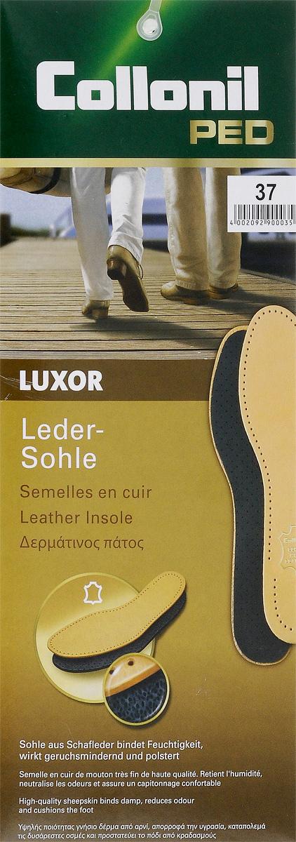 Стельки для обуви Collonil Luxor, с латексной основой, 2 шт. Размер 379012 370Стельки Collonil Luxor изготовлены из натуральной кожи с основой из латекса и фильтром из активированного угля. Прекрасно впитывают влагу и нейтрализуют неприятные запахи. Дополнительная перфорация гарантирует лучшую циркуляцию воздуха. Стельки обеспечивают мягкость и комфорт при ходьбе, а также дарят приятное ощущение сухости ног в обуви.Количество: 2 шт.