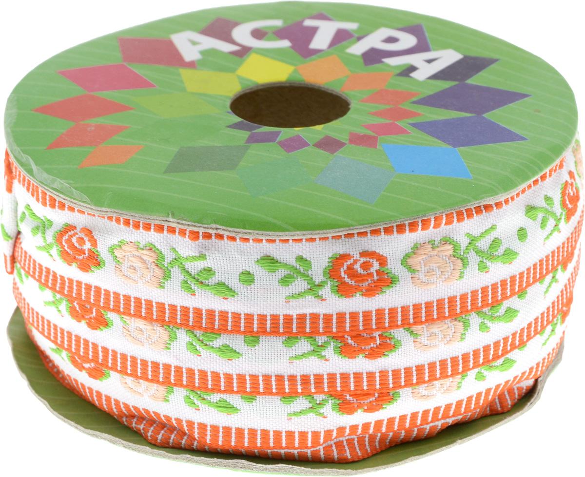 Тесьма декоративная Астра, цвет: красный (4), ширина 1,8 см, длина 16,4 м. 77032667703266_4Декоративная тесьма Астра выполнена из жаккарда и оформлена оригинальным орнаментом. Такая тесьма идеально подойдет для оформления различных творческих работ таких, как скрапбукинг, аппликация, декор коробок и открыток и многое другое. Тесьма наивысшего качества практична в использовании. Она станет незаменимым элементом в создании рукотворного шедевра. Ширина: 1,8 см.Длина: 16,4 м.