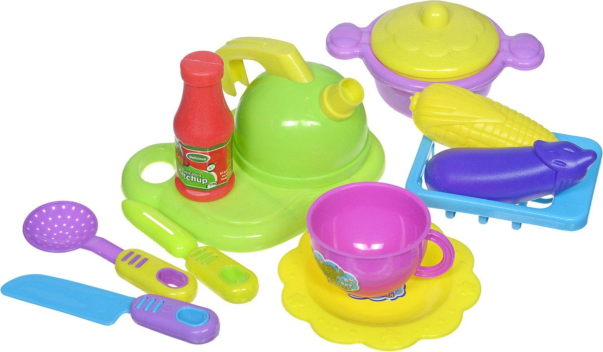 Shantou Игрушечный набор посуды с продуктами 12 предметов муляжи для занятий с беременными