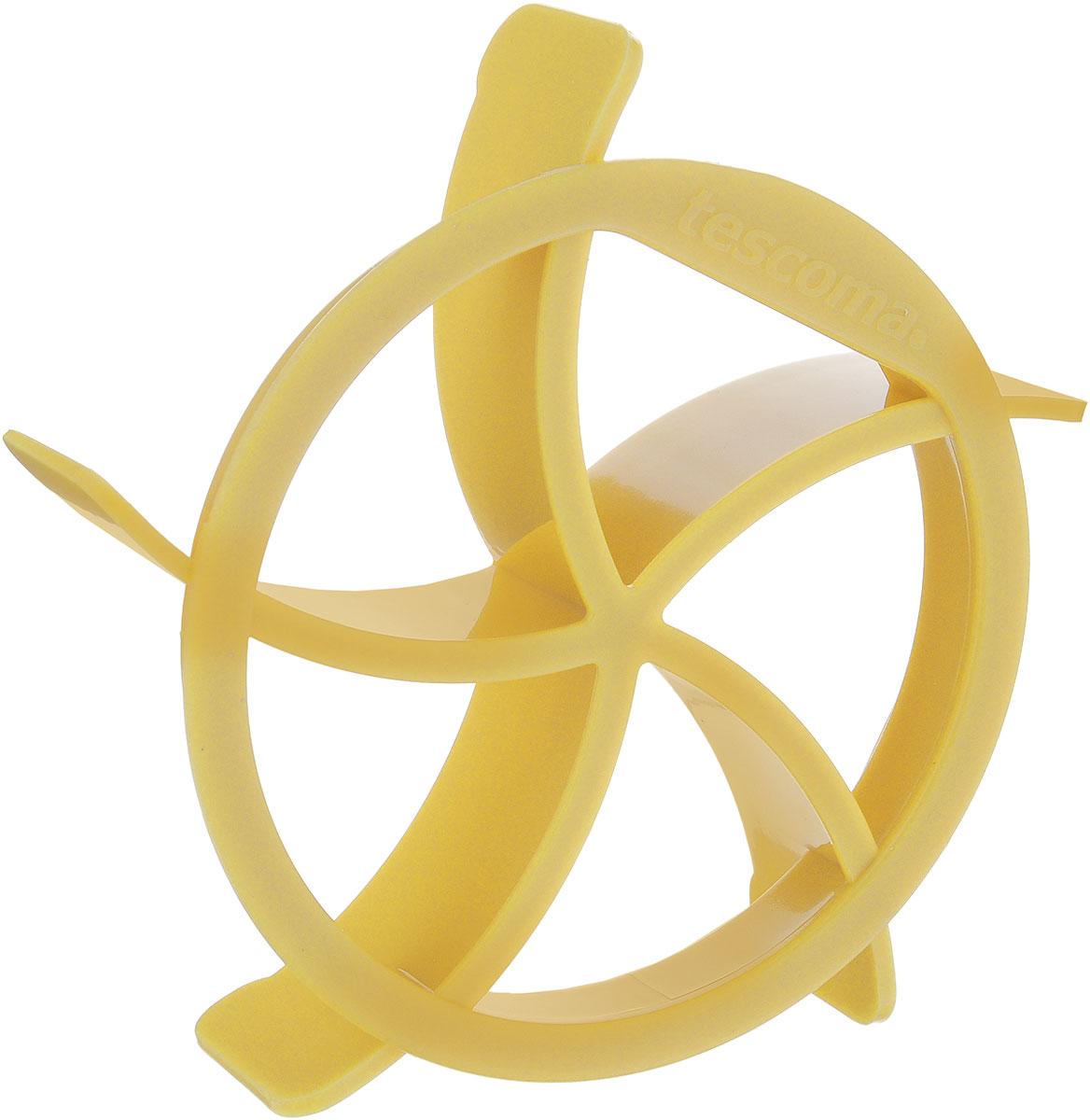 Формочка для кайзерок Tescoma Delicia, цвет: желтый, диаметр 9 см630084_желтыйФормочка для кайзерок Tescoma Delicia прекрасно подходит для приготовления домашней выпечки - булочек кайзерок. Выдавите в булочках с помощью формочки глубокий декор (около 2 мм над поверхностью противня) и приступайте к выпеканию теста. Формочка изготовлена из высококачественного прочного пластика, подходит для мытья в посудомоечной машине. Диаметр: 9 см.