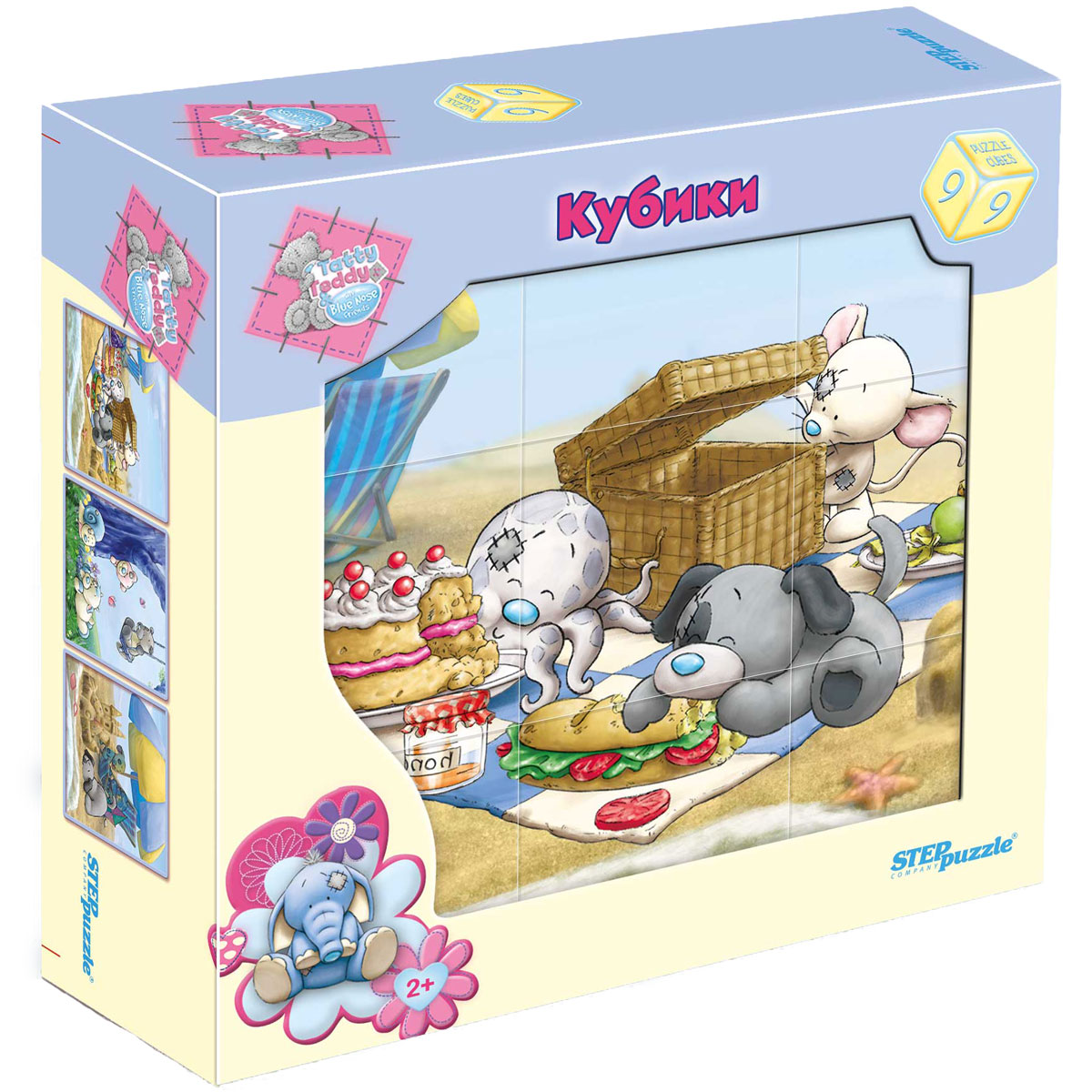 Step Puzzle Кубики Tatty Teddy and Blue Nose Friends