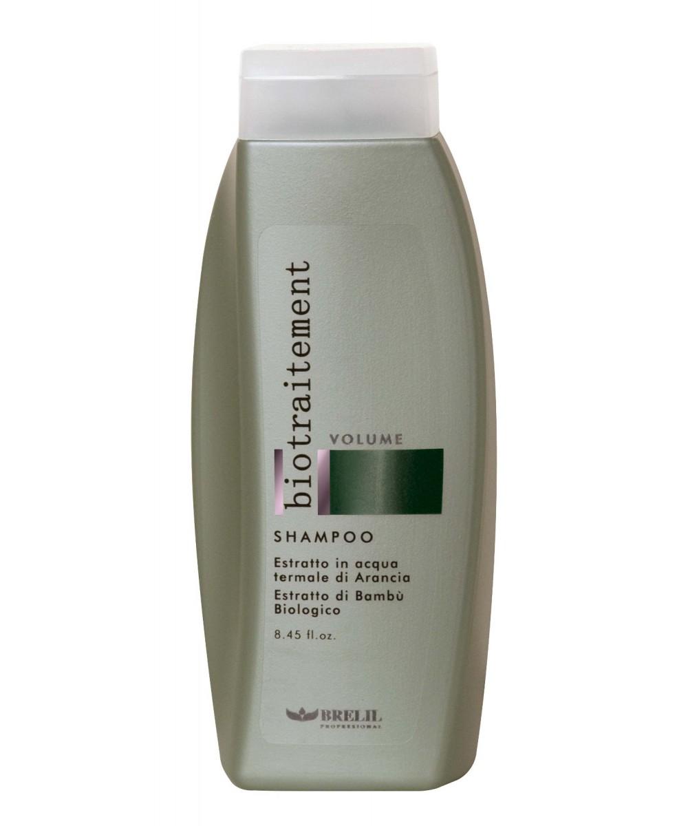 Brelil Шампунь для придания объёма Bio Traitement Volume Shampoo, 250 млB5069590Brelil Bio Traitement Volume Shampoo Шампунь для придания объёма тщательно очищает волосы от загрязнений, наполняет их здоровьем, прекрасным сиянием и полезными витаминами. В состав шампуня входит натуральный экстракт апельсина, который придаёт волосам замечательную эластичность и гибкость, увлажняет структуру волос и поддерживает оптимальный уровень влаги внутри каждого волоса, оказывает тонизирующее воздействие на кожу головы. Органическое молочко бамбука наделяет волосы силой и объёмом, обеспечивает волосам защиту от вредного влияния ультрафиолетовых лучей, восстанавливает иммунитет волос.Шампунь Brelil Volume Shampoo для придания объёма отлично подходит для регулярного применения, обладает приятным ароматом, делает волосы чистыми, гибкими и здоровыми.