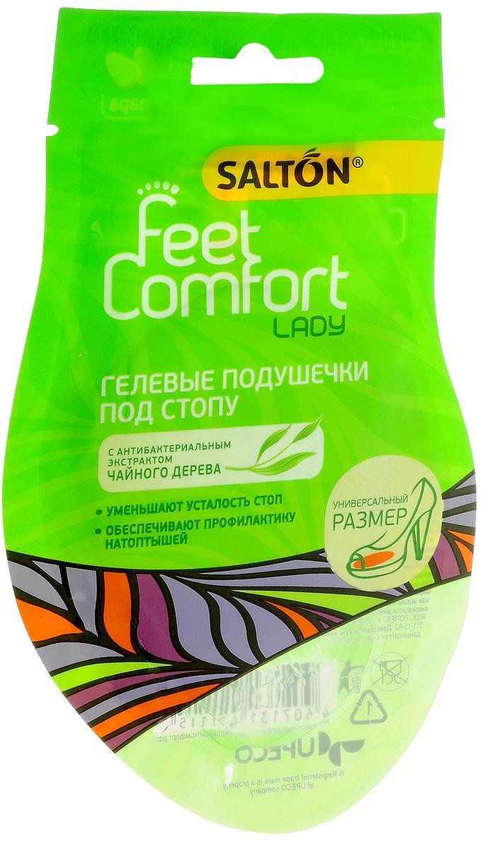 Подушечки гелевые под стопу Salton Lady, 2 шт2625887005Гелевые подушечки под стопу Salton Lady обеспечивают комфортное ношение обуви на высоких каблуках. Они уменьшают нагрузку на переднюю часть стопы, а также на суставы и позвоночник во время ходьбы, предотвращают образование мозолей-натоптышей. Универсальны для любого размера обуви.Способ применения:Удалите защитную пленку, расположите в обуви согласно схеме на упаковке клейкой поверхностью вниз и сильно прижмите. Комплектация: 2 шт. Размер: 6,5 см х 6 см. Материал: полиуретановый гель.