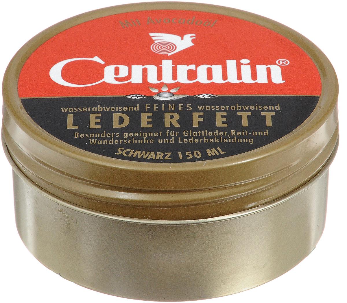 Жир для кожаной обуви Centralin, цвет: черный, 150 мл аэрозоль по уходу за деревянной мебелью centralin 300 мл