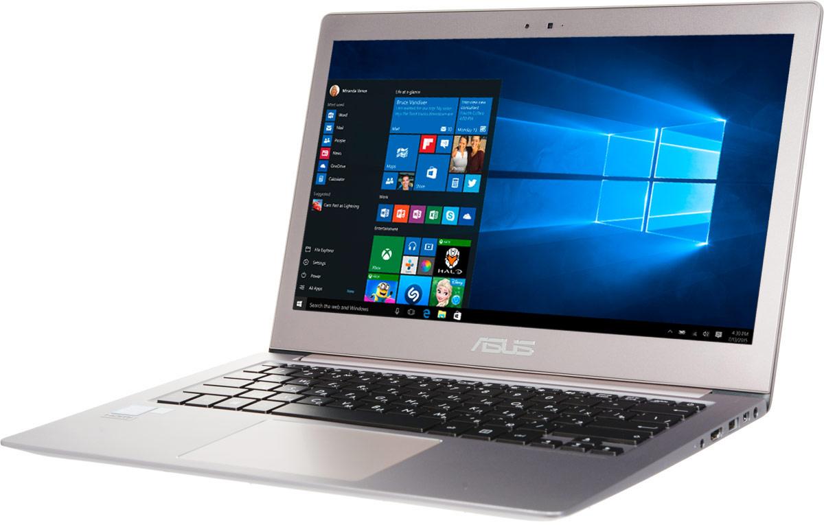 ASUS ZenBook UX303UA, Smoky Brown (UX303UA-R4364T)UX303UA-R4364TМобильный компьютер Zenbook UX303 отличается от конкурентов оригинальным дизайном и невероятно компактным алюминиевым корпусом, который становится еще тоньше по мере движения от задней к передней части. Практичность и высокая производительность сочетаются в них с привлекающим взгляд изяществом. 13,3-дюймовый дисплей данного ультрабука обладает разрешением 1920х1080 пикселей, выдавая невероятно четкую картинку. Яркость экрана составляет 300 кд/м2, а контрастность - 770:1. Кроме того, матовое покрытие дисплея минимизирует блики.Эксклюзивная технология Splendid позволяет быстро настраивать параметры дисплея в соответствии с текущими задачами и условиями, чтобы получить максимально качественное изображение. Всего доступно четыре режима настройки, поэтому пользователь легко может выбрать тот, который оптимально подходит для приложений различных типов.Скорость доступа к файлам является немаловажным фактором в общей производительности мобильного компьютера, поэтому ультрабуки серии Zenbook UX303 оснащаются гибридным жестким диском или твердотельным накопителем, которые отличаются от традиционных жестких дисков более высокой скоростью передачи данных.Благодаря энергоэффективным компонентам Zenbook UX303 может проработать без подзарядки до 7 часов, а эксклюзивная система управления энергопотреблением Super Hybrid Engine II позволит сэкономить заряд аккумулятора при использовании нетребовательных приложений, чтобы еще больше увеличить время автономной работы.Беспроводной модуль Wi-Fi, встроенный в Zenbook UX303, соответствует новейшему высокоскоростному стандарту 802.11ac, но является совместимым и с сетями предыдущих поколений. Кроме того, данный ультрабук поддерживает беспроводной периферийный интерфейс Bluetooth 4.0.Для подключения периферийных устройств Zenbook UX303 предлагает три порта USB 3.0, чья пропускная способность в 10 раз превышает возможности интерфейса USB 2.0. Причем один из портов наделен технол