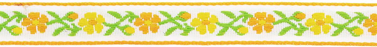 Тесьма декоративная Астра, цвет: желтый, ширина 1,3 см, длина 16,4 м. 7703258_3 тесьма декоративная астра цвет болотный зеленый с19 ширина 2 5 см длина 9 м 7703433