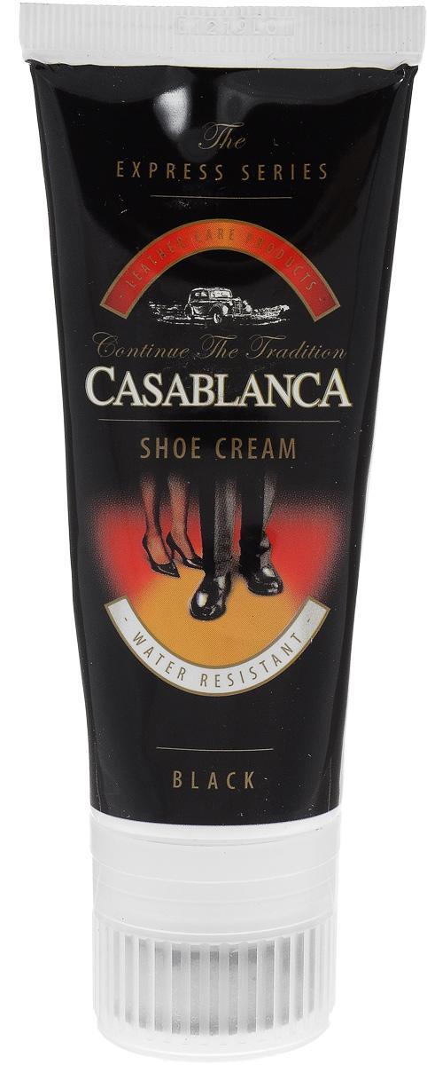 Крем-воск для обуви Casablanca, цвет: черный 75 мл