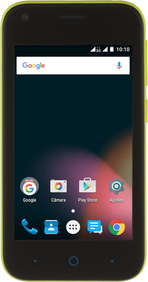 ZTE Blade L110, YellowZTE-BLADE.L110.YLКомпактный корпус смартфона ZTE Blade L110 изготовлен из качественного текстурированного поликарбоната, который максимально неприхотлив в повседневном использовании и будет удобно лежать в руке.Управление смартфона ZTE Blade L110 осуществляется на базе операционной системы Android 5.1, которая комфортна и интуитивно доступна любому современному пользователю, а также обеспечивает стабильную работу любых доступных приложений.Четрырехъядерный процессор и до 1 ГБ оперативной памяти обеспечивают скорость в обработке повседневных задач и плавную работу приложений.Смартфон ZTE Blade L110 обладает слотом для установки двух SIM-карт – разделяйте личные и рабочие звонки, выбирайте удобные тарифы в поездках и пользуйтесь интернетом независимо от вашего места нахождения.Смартфон сертифицирован EAC и имеет русифицированный интерфейс меню и Руководство пользователя.