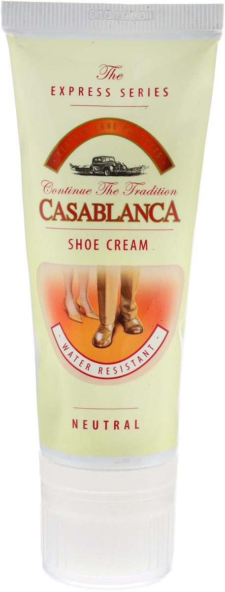 Крем-воск для обуви Casablanca, цвет: прозрачный 75 мл1215Придает обуви идеальный долговременный блеск.Питает кожу, предотвращает ее от высыхания и делает эластичной. Защищает кожу от влаги и грязи, обеспечивая легкую чистку. Правильное использование крема значительно увеличит срок службы вашей обуви