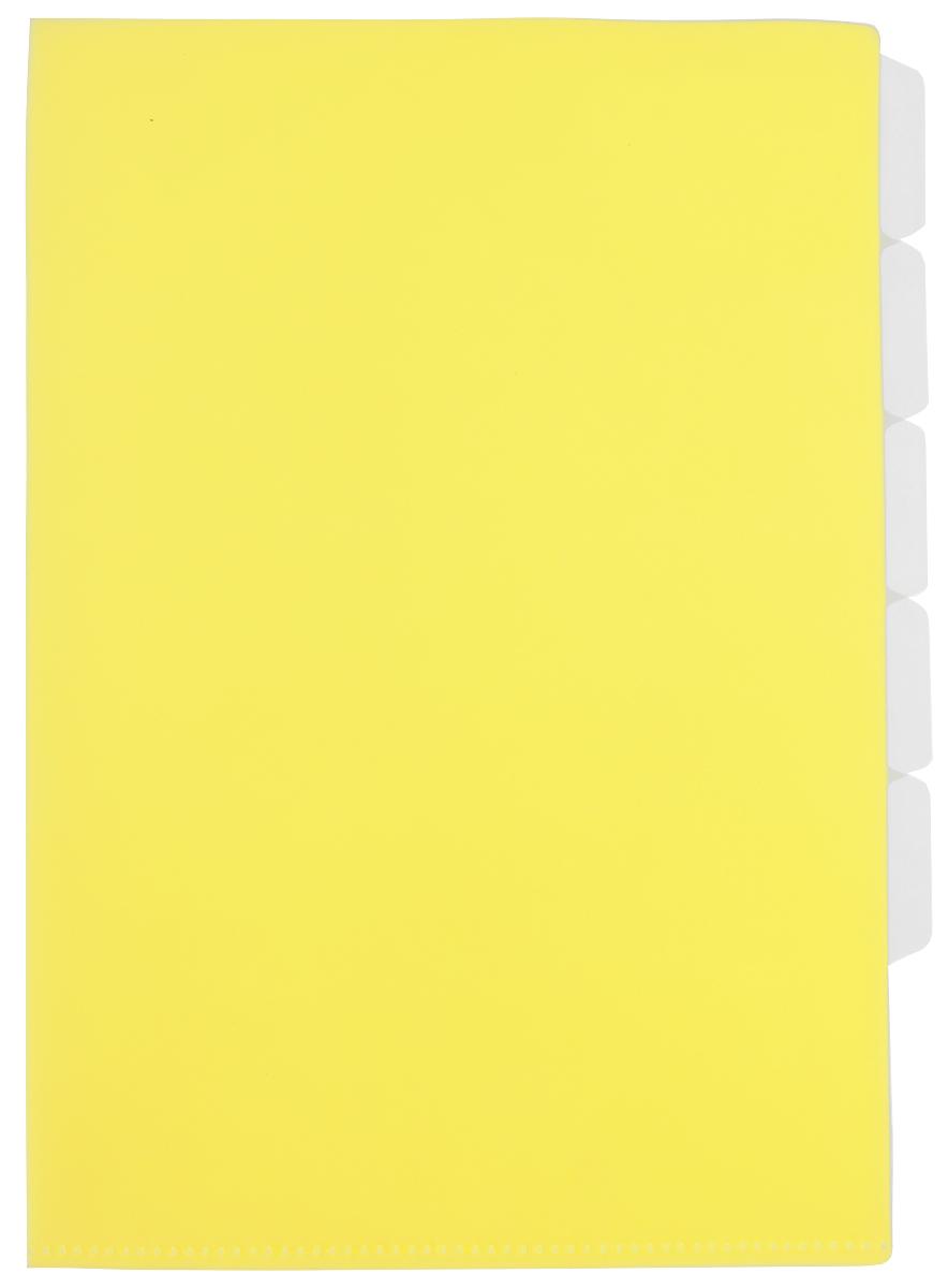 Бюрократ Папка-уголок цвет желтый 854125854125Папка-уголок Бюрократ станет вашим надежным помощником в учебных или офисных делах. Папка-уголок формата А4 желтого цвета изготовлена из износоустойчивого пластика и предназначена для хранения тетрадей и различных документов. Она имеет 5 уровней для удобного размещения бумаг и всегда будет сохранять ваши канцелярские принадлежности в опрятном и чистом виде.