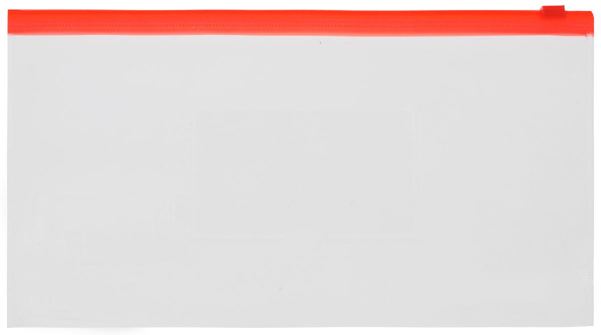 Бюрократ Папка-конверт на молнии с карманом под визитку816738Компактная папка-конверт Бюрократ - это удобный и практичный офисный инструмент, предназначенный для хранения и транспортировки рабочих бумаг и документов формата А6. Папка изготовлена из прозрачного пластика, закрывается на практичную застежку-молнию, имеет опрятный и неброский вид. На внешней поверхности папки расположен кармашек для визитки.Папка-конверт - это незаменимый атрибут для студента, школьника, офисного работника. Такая папка надежно сохранит ваши документы и сбережет их от повреждений, пыли и влаги.