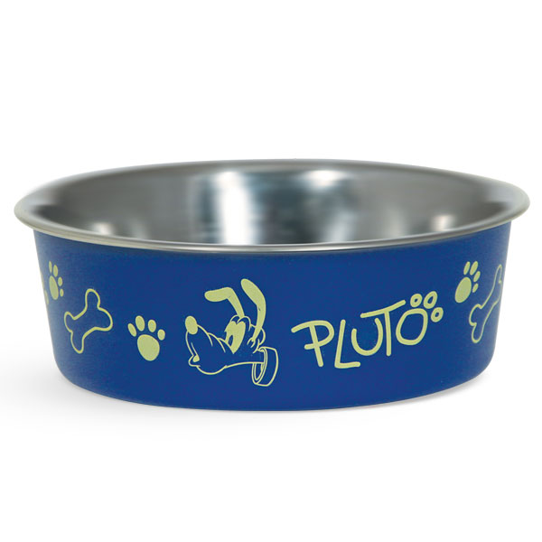 Миска для животных Triol Disney. Pluto, 750 млWD3004Миска для животных Triol Disney. Pluto - металлическая миска с пластиковым покрытием. Резиновое кольцо в основании миски препятствует ее скольжению во время использования. Имеет яркий дизайн.Объем: 750 мл