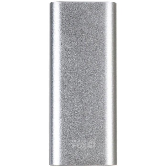 Black Fox BMP130S, Silver внешний аккумулятор (13000 мАч)BMP130SЛитий-полимерная батарея и два USB-выхода делают модель Black Fox BMP130S практичной для долговременного использования. Корпус изготовлен из металла с использованием пластмассовых вставок. BMP130S приятен на ощупь, окрашенная поверхность имеет матовую структуру и не скользит в руках.Размер и вес данного устройства весьма небольшой, что крайне удобно при хранении и переноске. Кроме того, индикатор уровня заряда в виде лапы подчеркивает индивидуальный стиль данного устройства. Black Fox BMP130S - это отличный подарок для вас, ваших друзей и близких! В комплекте помимо инструкции и гарантийного талона имеется кабель USB-micro USB с переходником для подключения продуктов компании Apple.