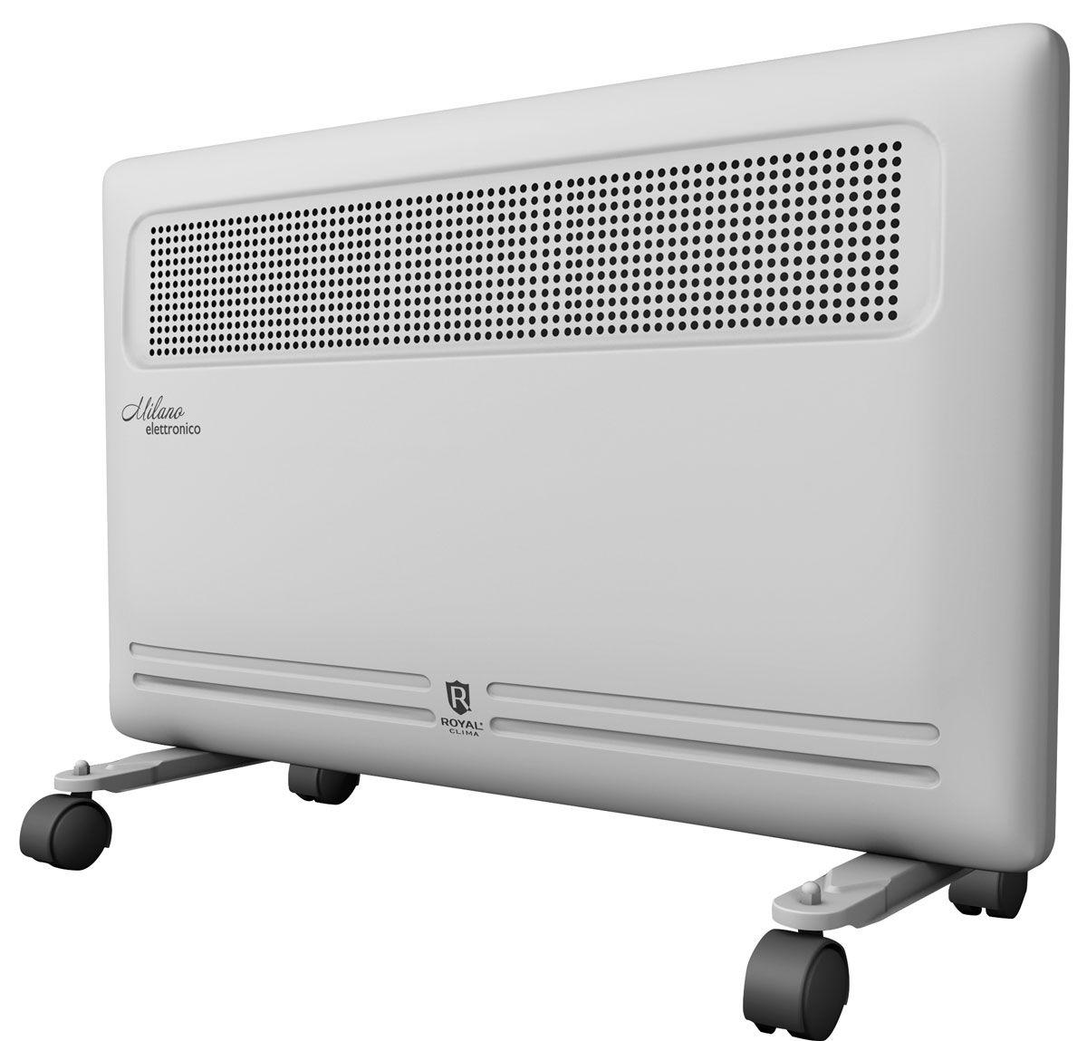 Royal Clima REC-M1500E электрический конвекторREC-M1500EЭлектрический конвектор Royal Clima REC-M1500E - воплощение продуманного подхода к обогреву помещения и эксплуатации бытового прибора.Конвекторы Milano обладают электронным высокоточным термостатом с возможностью установки желаемой температуры, расширенным набором опций и режимов, таких как ночной режим, таймер 24 часа, функцией ANTI Freeze, 2-мя режимами обогрева.Эксклюзивная конструкция воздухораздаточного отверстия увеличенной площади обеспечивает равномерный прогрев всего помещения. Высокая эффективность работы конвектора достигается благодаря литому алюминиевому нагревательному X-элементу X-ROYAL Long Life Heater с повышенным сроком службы до 25 лет.ОСНОВНЫЕ ХАРАКТЕРИСТИКИ-Высокоэффективный литой алюминиевый нагревательный Х-элемент X-ROYAL Long Life Heater-Увеличенная площадь теплообмена и сниженная температура поверхности -Повышенный срок службы до 25 лет -Высокая эффективность распределения тепла: 85% - эффект конвекции и 15% - эффект теплового излучения в помещении-Мгновенный разогрев за 10-20 секунд-Защита от пересушивания воздуха и выжигания кислорода -Равномерный прогрев помещения благодаря эксклюзивной конструкции воздухораздаточного отверстия увеличенной площади-Высокоточный электронный термостат для настройки и поддержания желаемой температуры в помещении-2 режима нагрева воздуха -Таймер, а также ночной режим работы-Функция антизамерзания ANTI Freeze-Система безопасной эксплуатации Security Project -Защита от перегрева -Защита от опрокидывания-Отсутствие острых углов-Универсальная настенная и напольная установка -Мобильные ролики с функцией фиксации в комплекте -Высококачественное порошковое покрытие, устойчивое к царапинам и выцветанию -Классический дизайн и эргономичная конструкция впишется в любой интерьер