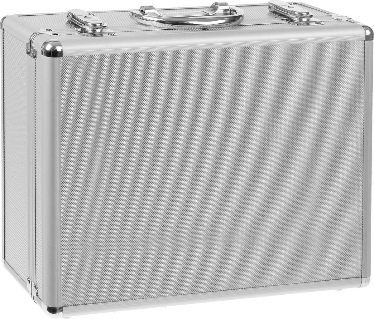 Ящик для инструментов FIT, алюминиевый, 34 х 28 х 12 см65610Ящик для инструментов FIT изготовлен из алюминия. Внутренние перегородки - переставные, что позволяет изменять пространство ящика по своему усмотрению. Отделка выполнена из мягкого пористого материала, что обеспечивает более бережное хранение инструмента.