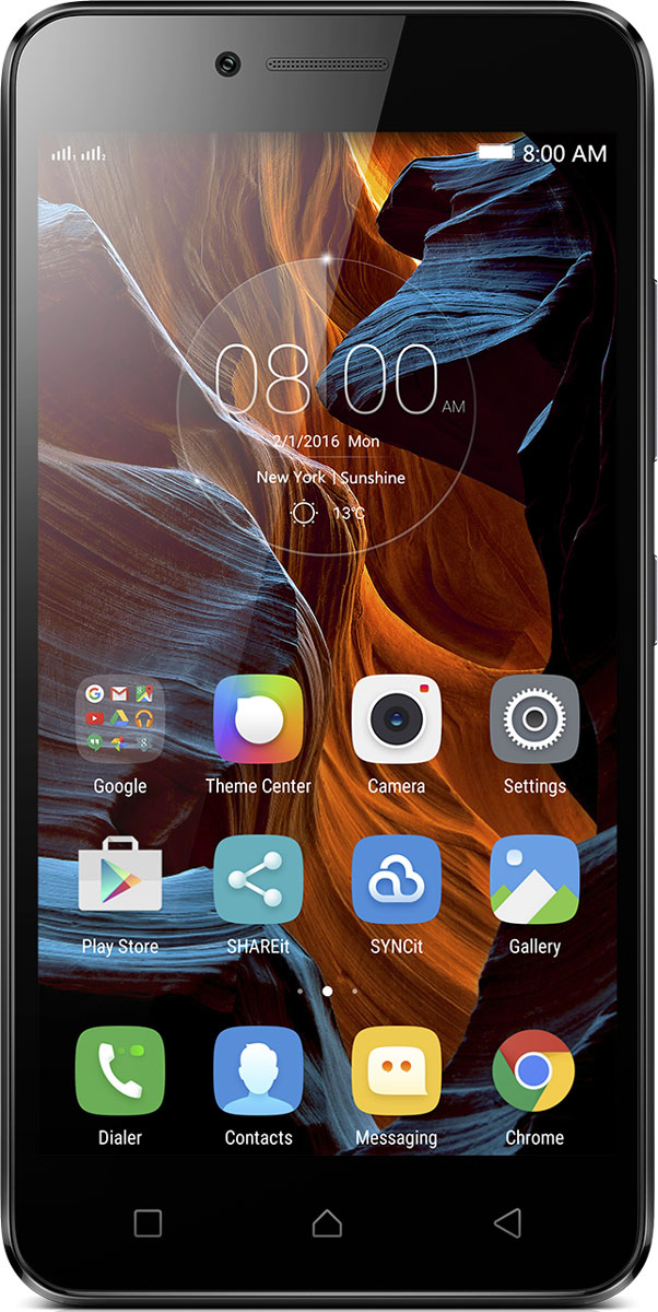 Lenovo K5 (A6020a40), GreyPA2M0076RUВосьмиядерный процессор, звук Dolby и две камеры высокого разрешения: 5-дюймовый Lenovo K5 - это самое лучшее, что можно получить за свои деньги. Смартфон оснащен дисплеем HD и двумя слотами для SIM-карт.Lenovo K5 имеет два динамика и поддерживает технологию Dolby Atmos. Ваш карманный музыкальный центр с потрясающим звучанием. Благодаря объемному звуку вы откроете новые грани музыки, видео, игр и даже видеочатов.Qualcomm Snapdragon 1,4 ГГц - это идеальное сочетание производительности и энергоэффективности, а благодаря 2 ГБ оперативной памяти не нужно будет отвлекаться от прослушивания музыки, просмотра видеоклипов и других развлечений.K5 - устройство для развлечений в пути. На ярком и качественном 5-дюймовом экране видео, чаты и игры будут смотреться просто идеально. Благодаря технологии IPS, обеспечивающей широкие (почти 180 градусов) углы обзора, удобно смотреть фильмы вместе с друзьями.Если встроенной памяти объемом 16 ГБ окажется недостаточно для вашей музыки и цифровых файлов, вы можете установить карту microSD и получить дополнительные 32 ГБ.Для съемки четких и качественных фотографий и видео предназначена 13-мегапиксельная задняя камера с автофокусом и светодиодной вспышкой. Для селфи и видеочатов подойдет фронтальная камера с разрешением 5 Мпикс.K5 позволяет подключаться к высокоскоростным сетям передачи данных LTE (4G), а также поддерживает Bluetooth, WiFi и GPS. Модель с двумя слотами для SIM-карт удобно брать с собой в заграничные поездки. Установите карту местного оператора и сэкономьте на роуминге.Оснащенный аккумулятором 2750 мАч с длительным временем автономной работы Lenovo K5 превосходно впишется в вашу насыщенную жизнь. А если вы фанат социальных сетей, игр и общения в чате, то смартфон K5 - идеальный выбор для вас. Но когда батарея все-таки сядет, вы сможете без труда заменить ее на запасную с полным зарядом.С версией Android 5.1 вы всегда будете в курсе событий, сможете общаться с друзьями и даже экономить при 