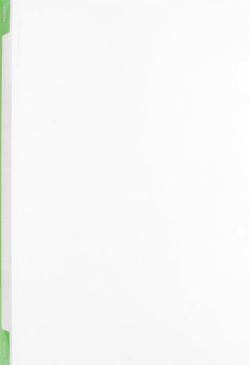 Kokuyo Папка-уголок цвет прозрачный светло-зеленый990306Папка-уголок Kokuyo подойдет для хранения документов и тетрадей как для офисного работника, так и для студента или школьника.Папка формата А4 изготовлена из качественного пластика, имеет длинный корешок для указания необходимой информации, а также два отверстия для подшивания в папки-скоросшиватели или папки на кольцах.
