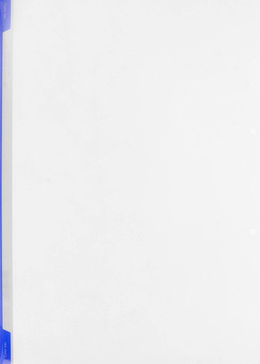 Kokuyo Папка-уголок цвет прозрачный синий990255Папка-уголок Kokuyo подойдет для хранения документов и тетрадей как для офисного работника, так и для студента или школьника.Папка формата А4 изготовлена из качественного пластика, имеет длинный корешок для указания необходимой информации, а также два отверстия для подшивания в папки-скоросшиватели или папки на кольцах.