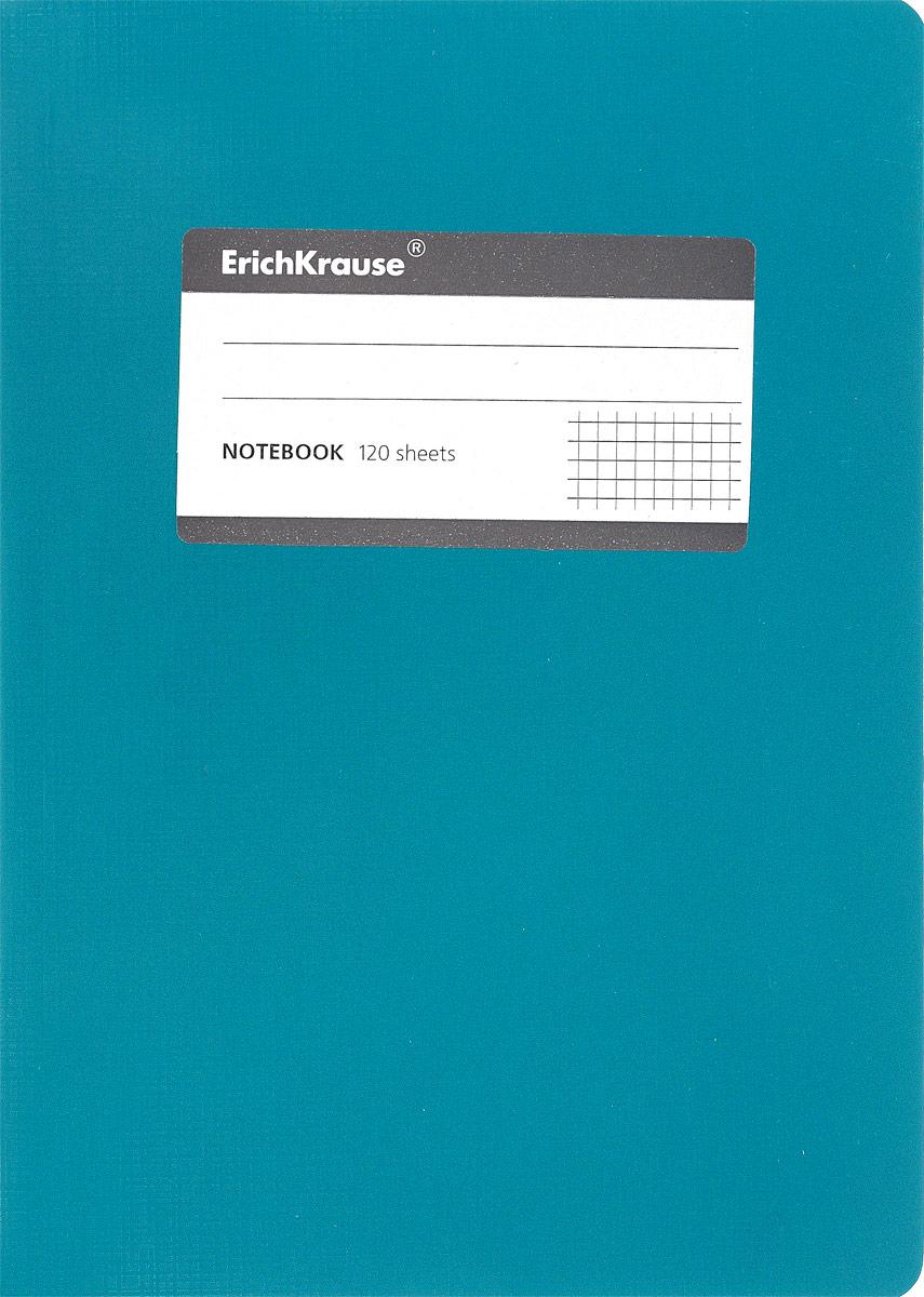 Erich Krause Тетрадь One Color 120 листов в клетку цвет бирюзовый96Т5B1_13896Тетрадь One Color с закругленными уголками представляет новую линиюуниверсальных общих тетрадей Erich Krause, предназначенных для студентов,учеников старших классов, преподавателей и для всех тех, кому важнозаписывать и надежно хранить нужную информацию.Обложка, выполненнаяиз плотного картона, надежно защитит от влаги и поможет сохранитьаккуратный внешний вид тетради. Внутренний блок состоит из 120 листов белойбумаги в клетку без полей. На обложке расположена наклейка длязанесения данных владельца.