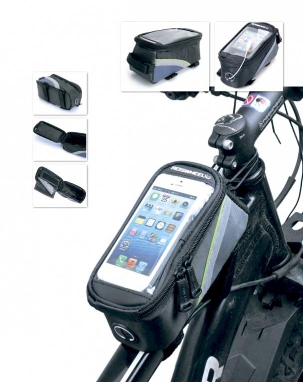 Кататься на велосипеде прекрасным солнечным утром под любимую музыку - что может быть лучше? Но как назло, то смартфон по пути выпадает из кармана, то наушники цепляются за руль, то приходится останавливаться, чтобы ответить на чей-то звонок. С новой велосипедной сумкой с отделением для смартфона Вы сможете наслаждаться каждой минутой поездки.     Она надежно фиксируется на раме велосипеда и имеет отделение для смартфона размерами до 80 х 150мм.    Прозрачная пленка на чехле позволяет беспрепятственно пользоваться телефоном прямо на ходу.   Внутреннее отделение объемом 1,2 л идеально подходит для перевозки кошелька, ключей, солнцезащитных очков.   Сумка защищает вещи, и телефон от пыли, грязи, дождя, имеет специальное отверстие для наушников. Материал: полиэстер, поливинилхлорид  Размер: 18 х 8 х 9 см. Объем: 1,2 л.      Гид по велоаксессуарам. Статья OZON Гид