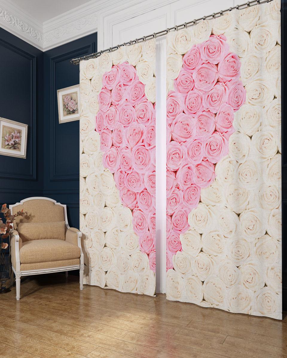 Комплект фотоштор Сирень Сердце из роз, на ленте, высота 260 см01145-ФШ-БЛ-001Фотошторы Сирень Сердце из роз, выполненные из блэкаута, отлично дополнят украшение любого интерьера. Блэкаут - это трехслойная светонепроницаемая ткань - 100% полиэстер, по структуре напоминает плотный хлопок, очень мягкий,с небольшим сероватым оттенком из-за черной нити, входящей в состав ткани. Блэкаут не требует особого ухода, хорошо драпируется. Пропускает солнечные лучи не более 5%. Крепление на карниз при помощи шторной ленты на крючки. В комплекте 2 шторы. Ширина одного полотна: 145 см.Высота штор: 260 см.Рекомендации по уходу: стирка при 30 градусах, гладить при температуре до 110 градусов.Изображение на мониторе может немного отличаться от реального.
