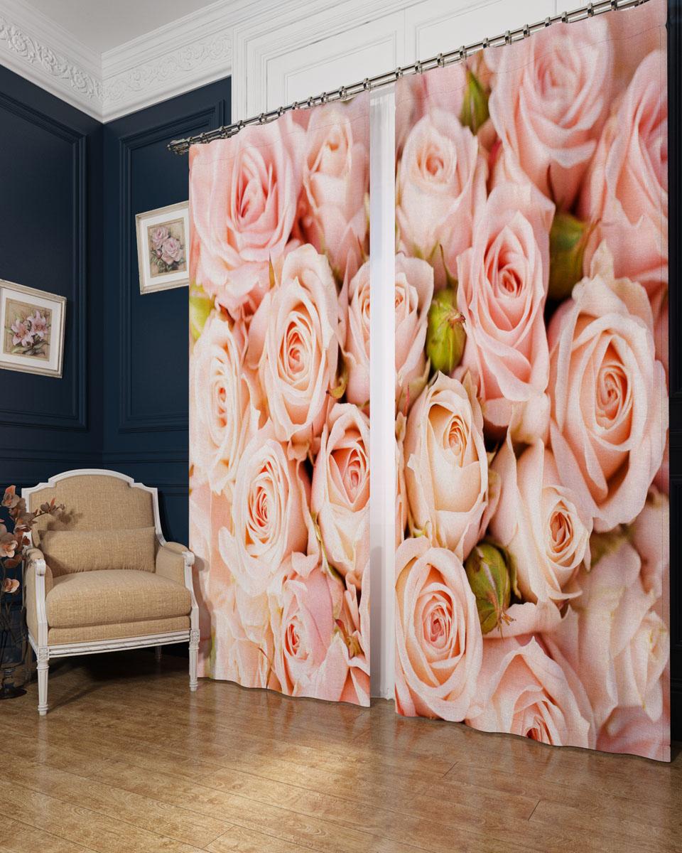 Комплект фотоштор Сирень Молодые розы, на ленте, высота 260 см02365-ФШ-БЛ-001Фотошторы Сирень Молодые розы, выполненные из блэкаута, отлично дополнят украшение любого интерьера. Блэкаут - это трехслойная светонепроницаемая ткань - 100% полиэстер, по структуре напоминает плотный хлопок, очень мягкий,с небольшим сероватым оттенком из-за черной нити, входящей в состав ткани. Блэкаут не требует особого ухода, хорошо драпируется. Пропускает солнечные лучи не более 5%. Крепление на карниз при помощи шторной ленты на крючки. В комплекте 2 шторы. Ширина одного полотна: 145 см.Высота штор: 260 см.Рекомендации по уходу: стирка при 30 градусах, гладить при температуре до 110 градусов.Изображение на мониторе может немного отличаться от реального.