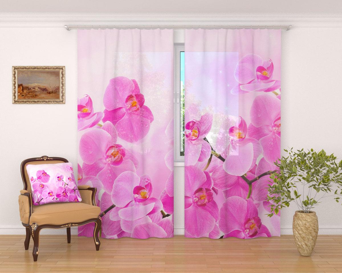 Комплект фототюлей Сирень Сиреневая орхидея, на ленте, высота 260 см02404-ФТ-ВЛ-001Фототюль Сирень Сиреневая орхидея из легкой парящей ткани - вуали - благодаря своей прозрачности позволяет создать в комнате уютную атмосферу, отлично дополняет украшение любого окна. Ткань хорошо держит форму, не требует специального ухода. Яркая и чёткая картинка будет радовать вас каждый день.Крепление на карниз при помощи шторной ленты на крючки.В комплекте: 2 тюля.Ширина полотна: 145 см.Высота полотна: 260 см. Рекомендации по уходу: стирка при 30 градусах, гладить при температуре до 110 градусов.Изображение на мониторе может немного отличаться от реального.