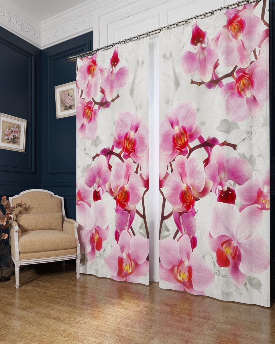 Комплект фотоштор Сирень Ветви орхидеи, на ленте, высота 260 см02782-ФШ-БЛ-001Фотошторы Сирень Ветви орхидеи, выполненные из блэкаута, отлично дополнят украшение любого интерьера. Блэкаут - это трехслойная светонепроницаемая ткань - 100% полиэстер, по структуре напоминает плотный хлопок, очень мягкий,с небольшим сероватым оттенком из-за черной нити, входящей в состав ткани. Блэкаут не требует особого ухода, хорошо драпируется. Пропускает солнечные лучи не более 5%. Крепление на карниз при помощи шторной ленты на крючки. В комплекте 2 шторы. Ширина одного полотна: 145 см.Высота штор: 260 см.Рекомендации по уходу: стирка при 30 градусах, гладить при температуре до 110 градусов.Изображение на мониторе может немного отличаться от реального.