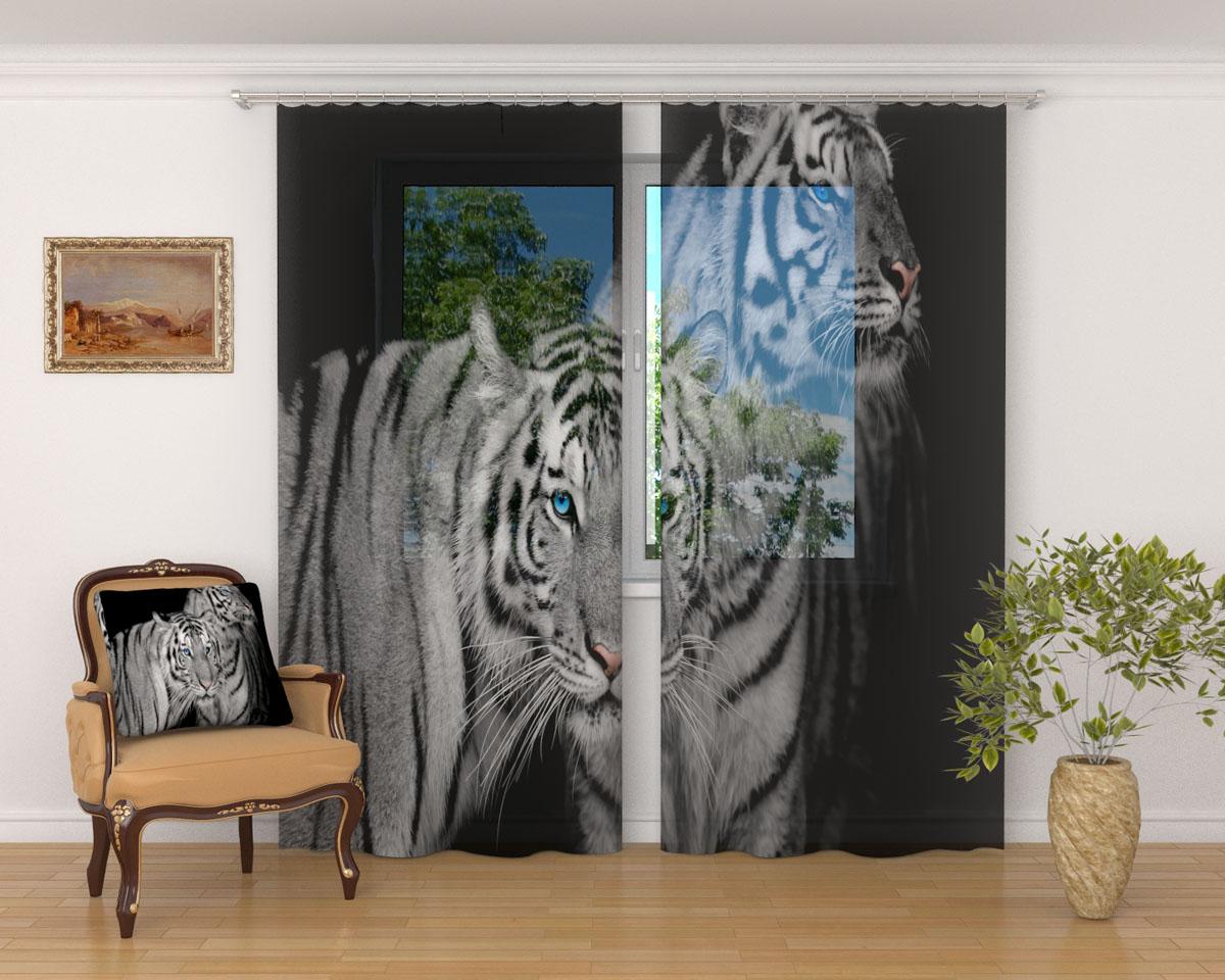 Комплект фототюлей Сирень Два тигра, на ленте, высота 260 см03221-ФТ-ВЛ-001Фототюль Сирень Два тигра из легкой парящей ткани - вуали - благодаря своей прозрачности позволяет создать в комнате уютную атмосферу, отлично дополняет украшение любого окна. Ткань хорошо держит форму, не требует специального ухода. Яркая и чёткая картинка будет радовать вас каждый день.Крепление на карниз при помощи шторной ленты на крючки.В комплекте: 2 тюля.Ширина полотна: 145 см.Высота полотна: 260 см. Рекомендации по уходу: стирка при 30 градусах, гладить при температуре до 110 градусов.Изображение на мониторе может немного отличаться от реального.