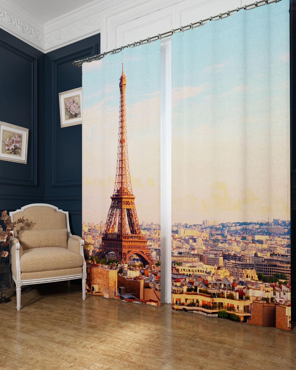 Комплект фотоштор Сирень Просыпающийся Париж, на ленте, высота 260 см03236-ФШ-БЛ-001Фотошторы Сирень Просыпающийся Париж, выполненные из блэкаута, отлично дополнят украшение любого интерьера. Блэкаут - это трехслойная светонепроницаемая ткань - 100% полиэстер, по структуре напоминает плотный хлопок, очень мягкий,с небольшим сероватым оттенком из-за черной нити, входящей в состав ткани. Блэкаут не требует особого ухода, хорошо драпируется. Пропускает солнечные лучи не более 5%. Крепление на карниз при помощи шторной ленты на крючки. В комплекте 2 шторы. Ширина одного полотна: 145 см.Высота штор: 260 см.Рекомендации по уходу: стирка при 30 градусах, гладить при температуре до 110 градусов.Изображение на мониторе может немного отличаться от реального.