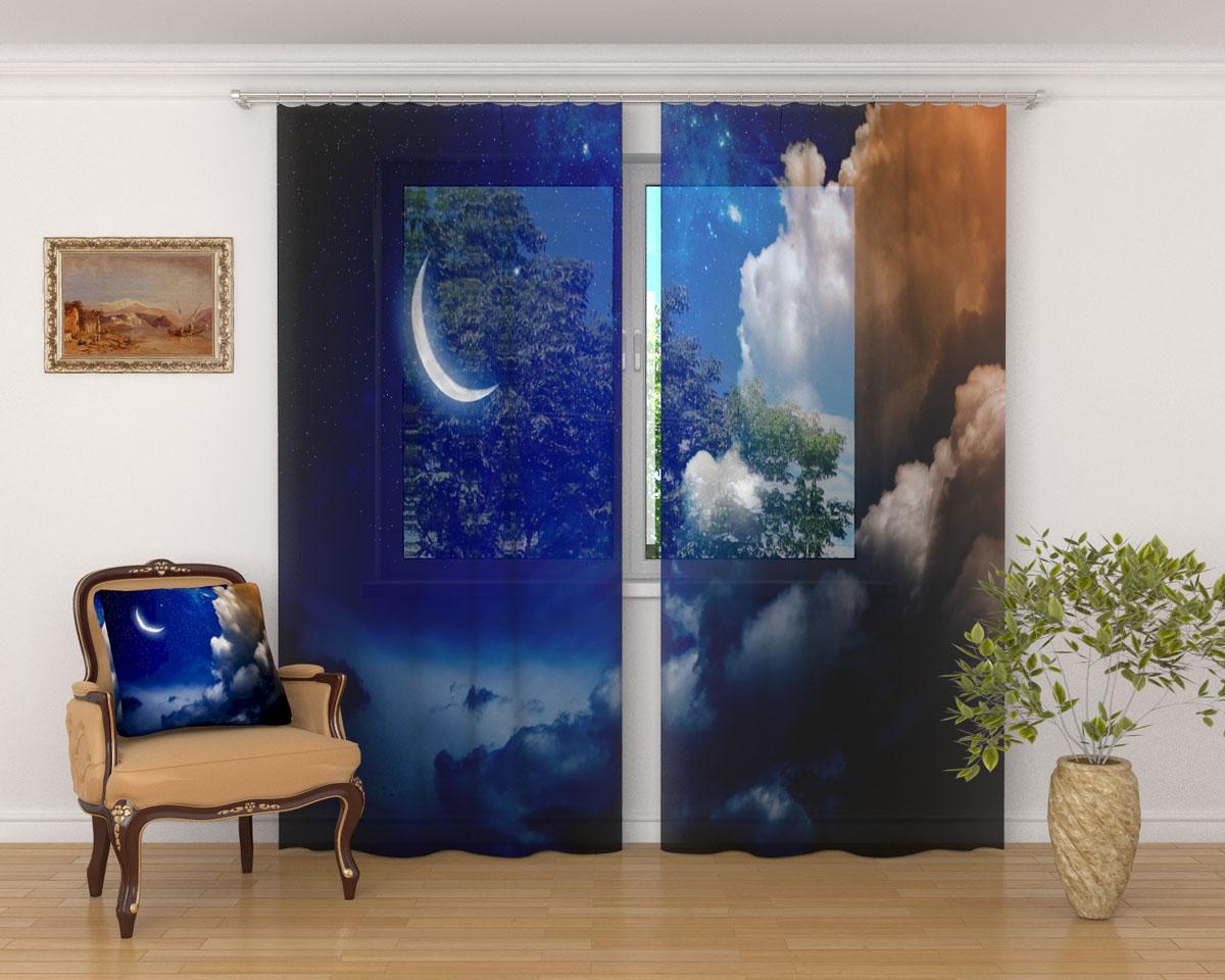 Комплект фототюлей Сирень Луна и облака, на ленте, высота 260 см03305-ФТ-ВЛ-001Фототюль Сирень Луна и облака из легкой парящей ткани - вуали - благодаря своей прозрачности позволяет создать в комнате уютную атмосферу, отлично дополняет украшение любого окна. Ткань хорошо держит форму, не требует специального ухода. Яркая и чёткая картинка будет радовать вас каждый день.Крепление на карниз при помощи шторной ленты на крючки.В комплекте: 2 тюля.Ширина полотна: 145 см.Высота полотна: 260 см. Рекомендации по уходу: стирка при 30 градусах, гладить при температуре до 110 градусов.Изображение на мониторе может немного отличаться от реального.