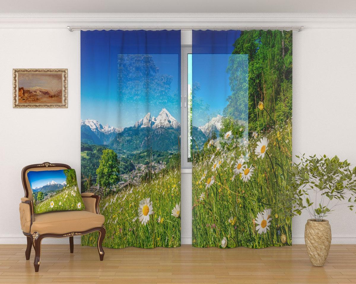 Комплект фототюлей Сирень Альпийские травы, на ленте, высота 260 см03416-ФТ-ВЛ-001Фототюль Сирень Альпийские травы из легкой парящей ткани - вуали - благодаря своей прозрачности позволяет создать в комнате уютную атмосферу, отлично дополняет украшение любого окна. Ткань хорошо держит форму, не требует специального ухода. Яркая и чёткая картинка будет радовать вас каждый день.Крепление на карниз при помощи шторной ленты на крючки.В комплекте: 2 тюля.Ширина полотна: 145 см.Высота полотна: 260 см. Рекомендации по уходу: стирка при 30 градусах, гладить при температуре до 110 градусов.Изображение на мониторе может немного отличаться от реального.