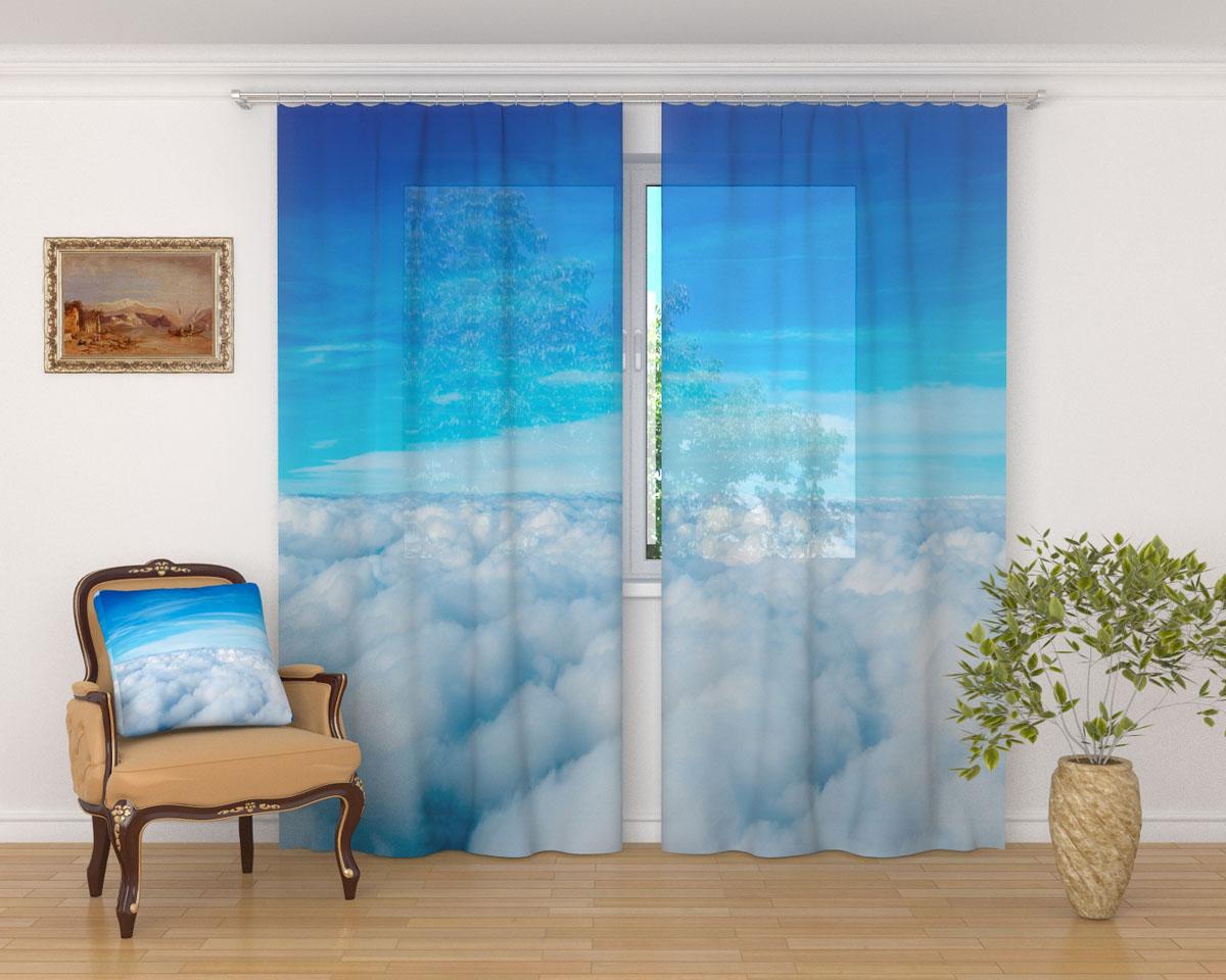 Комплект фототюлей Сирень Над облаками, на ленте, высота 260 см03561-ФТ-ВЛ-001Фототюль Сирень Над облаками из легкой парящей ткани - вуали - благодаря своей прозрачности позволяет создать в комнате уютную атмосферу, отлично дополняет украшение любого окна. Ткань хорошо держит форму, не требует специального ухода. Яркая и чёткая картинка будет радовать вас каждый день.Крепление на карниз при помощи шторной ленты на крючки.В комплекте: 2 тюля.Ширина полотна: 145 см.Высота полотна: 260 см. Рекомендации по уходу: стирка при 30 градусах, гладить при температуре до 110 градусов.Изображение на мониторе может немного отличаться от реального.