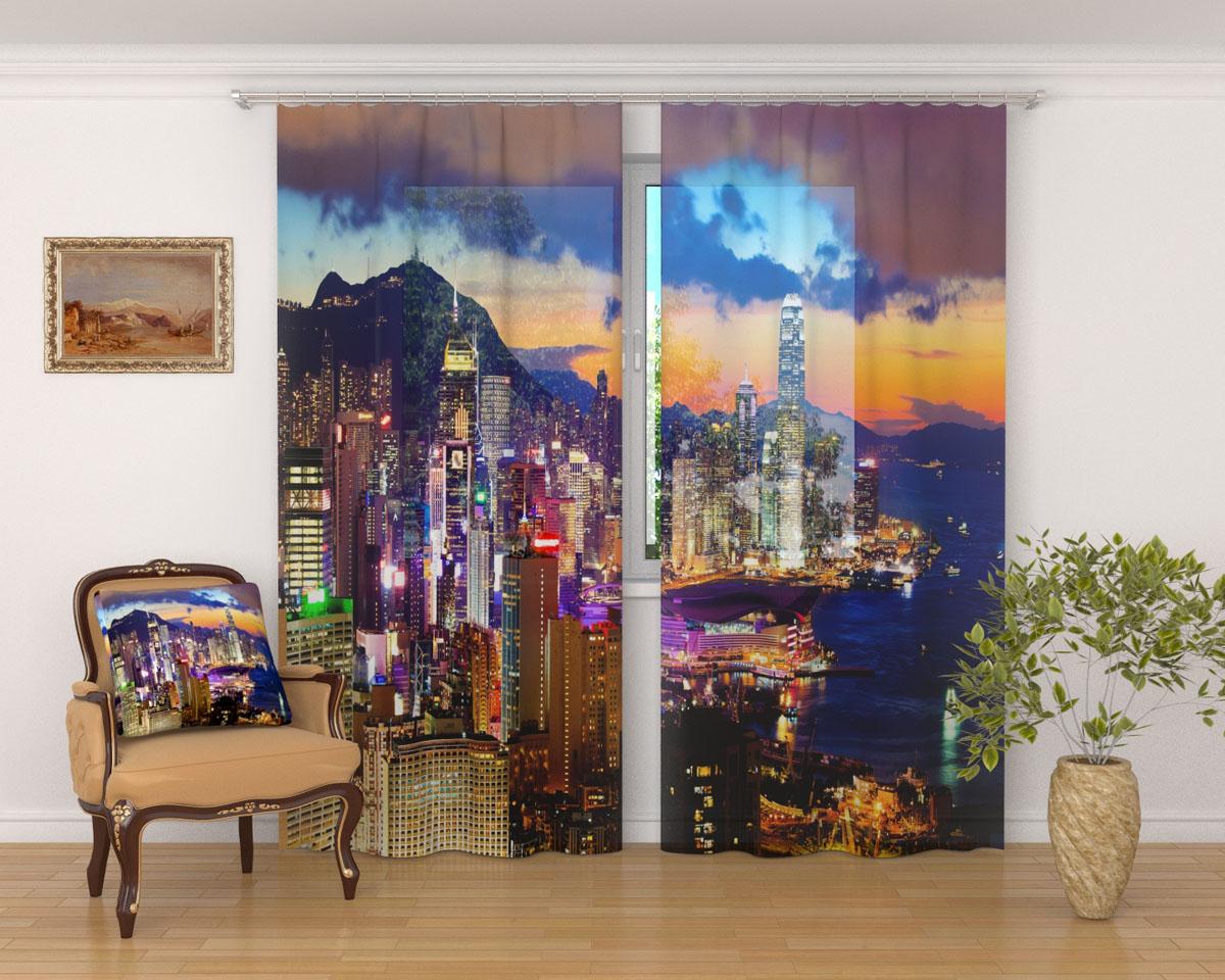 Комплект фототюлей Сирень Закат в Гонконге, на ленте, высота 260 см03592-ФТ-ВЛ-001Фототюль Сирень Закат в Гонконге из легкой парящей ткани - вуали - благодаря своей прозрачности позволяет создать в комнате уютную атмосферу, отлично дополняет украшение любого окна. Ткань хорошо держит форму, не требует специального ухода. Яркая и чёткая картинка будет радовать вас каждый день.Крепление на карниз при помощи шторной ленты на крючки.В комплекте: 2 тюля.Ширина полотна: 145 см.Высота полотна: 260 см. Рекомендации по уходу: стирка при 30 градусах, гладить при температуре до 110 градусов.Изображение на мониторе может немного отличаться от реального.