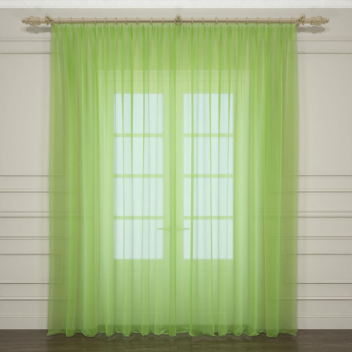 Тюль Сирень, на ленте, цвет: зеленый, высота 260 см704557Тюль Сирень из легкой парящей ткани - вуали - благодарясвоей прозрачности позволяет создать в комнате уютную атмосферу, отличнодополняет украшение любого окна. Ткань хорошо держит форму, не требуетспециального ухода. Крепление на карниз при помощи шторной ленты на крючки. Рекомендации по уходу: стирка при 30 градусах, гладить при температуре до 110градусов.Изображение на мониторе может немного отличаться от реального.