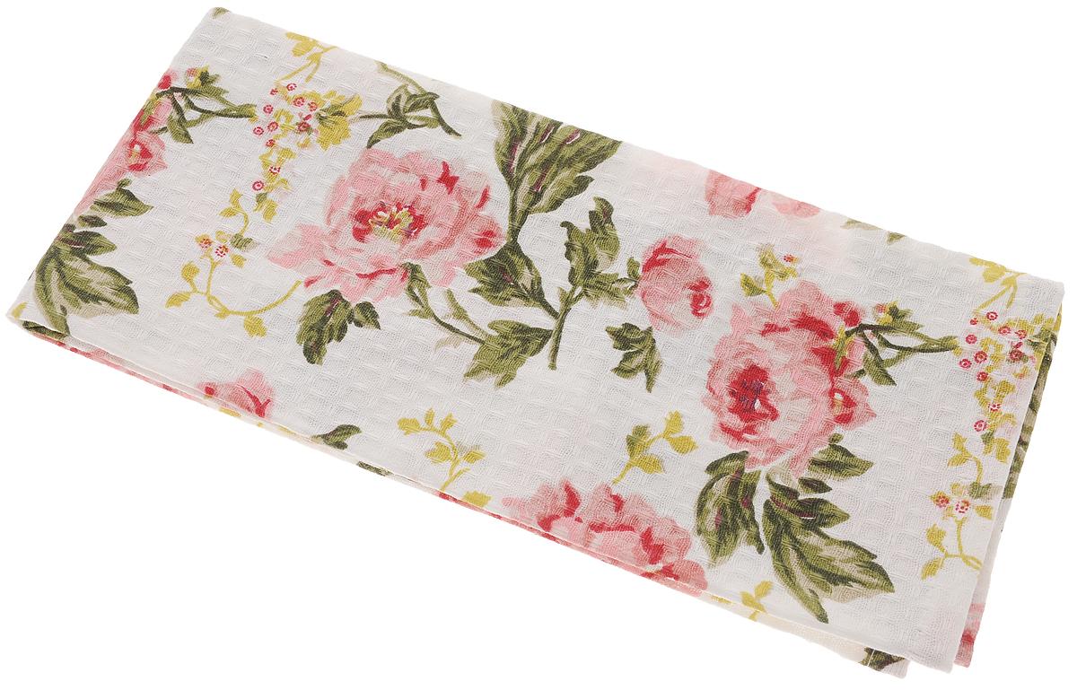 Полотенце кухонное Bonita Английская коллекция, цвет: белый, красный, 44 х 60 см полотенце кухонное bonita белые росы цвет белый бежевый 35 х 61 см