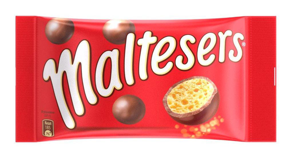 Maltesers Драже Шоколадные Шарики, 37 г nesquik готовый завтрак nesquik duo шоколадные шарики 250г