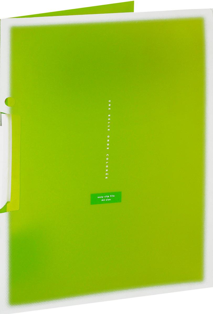 Kokuyo Папка с клипом Coloree цвет светло-зеленый828640Папка с поворотным зажимом Kokuyo Coloree предназначена для хранения документов и тетрадей. Она подойдет как для офисного работника, так и для студента или школьника. По форме это обычная папка формата А4, но она имеет прочный пластиковый зажим, который надежно зафиксирует ваши бумаги.Папка изготовлена из качественного пластика и всегда будет сохранять ваши документы в чистом и опрятном виде.