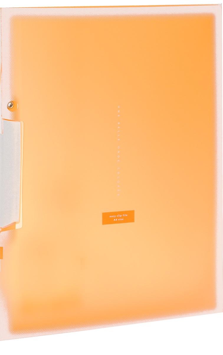 Kokuyo Папка с клипом Coloree цвет оранжевый828639Папка с поворотным зажимом Kokuyo Coloree предназначена для хранения документов и тетрадей. Она подойдет как для офисного работника, так и для студента или школьника. По форме это обычная папка формата А4, но она имеет прочный пластиковый зажим, который надежно зафиксирует ваши бумаги.Папка изготовлена из качественного пластика и всегда будет сохранять ваши документы в чистом и опрятном виде.
