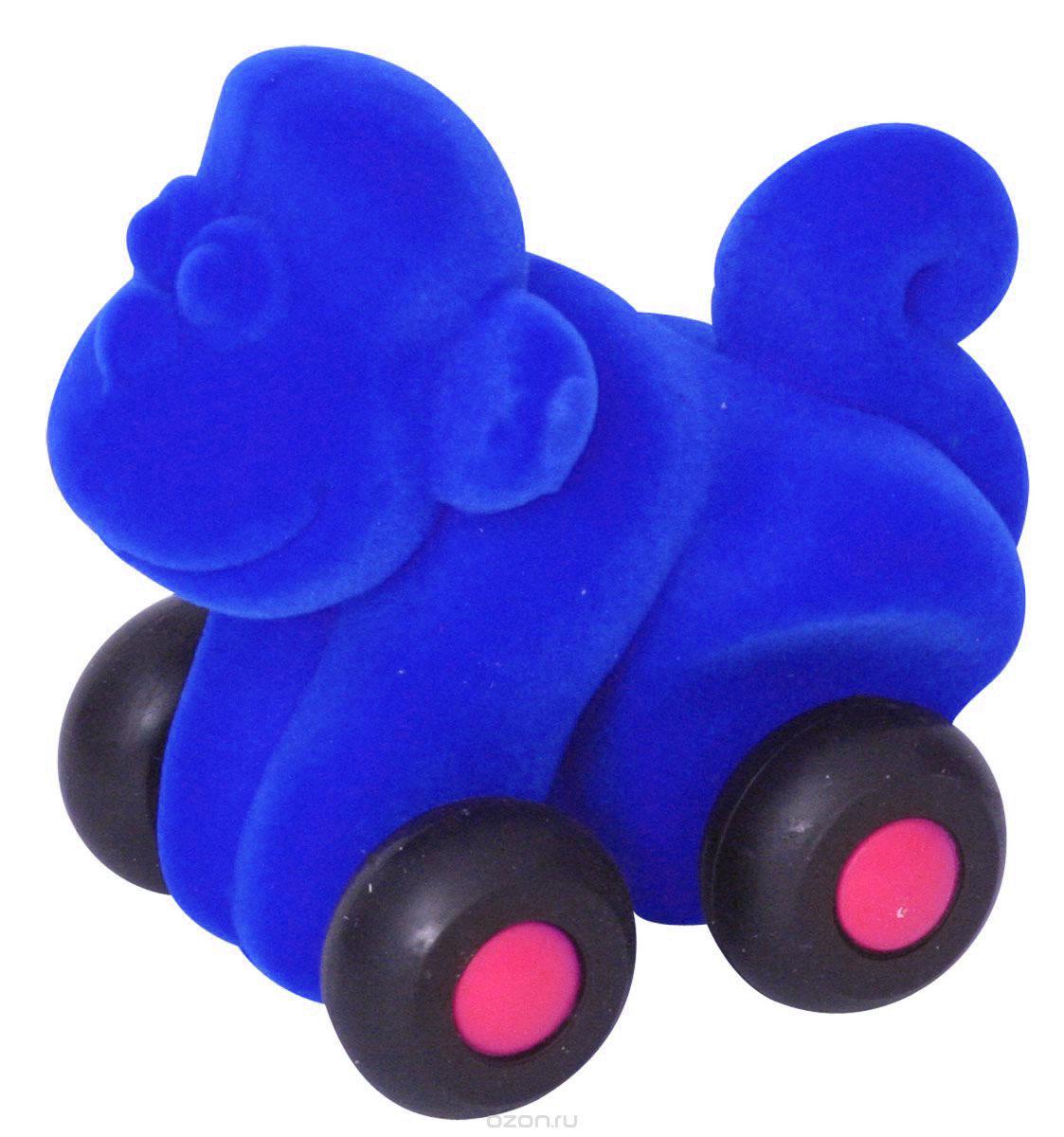 Rubbabu Фигурка функциональная Обезьяна цвет синий машины rubbabu скутер из натурального каучука с флоковым покрытием 21 см
