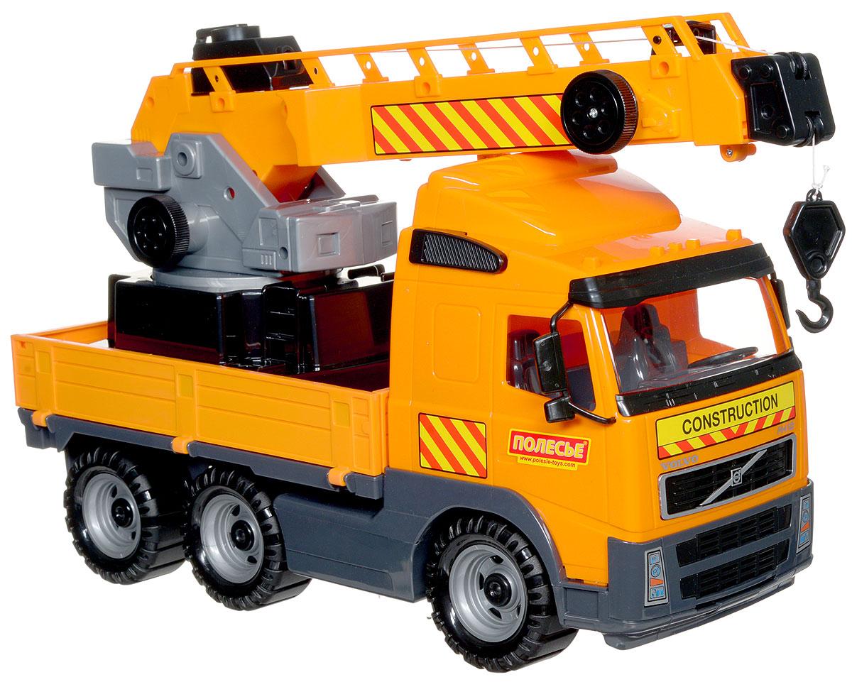 Полесье Автомобиль-кран Volvo с поворотной платформой автомобиль пожарный полесье volvo в сеточке 8787