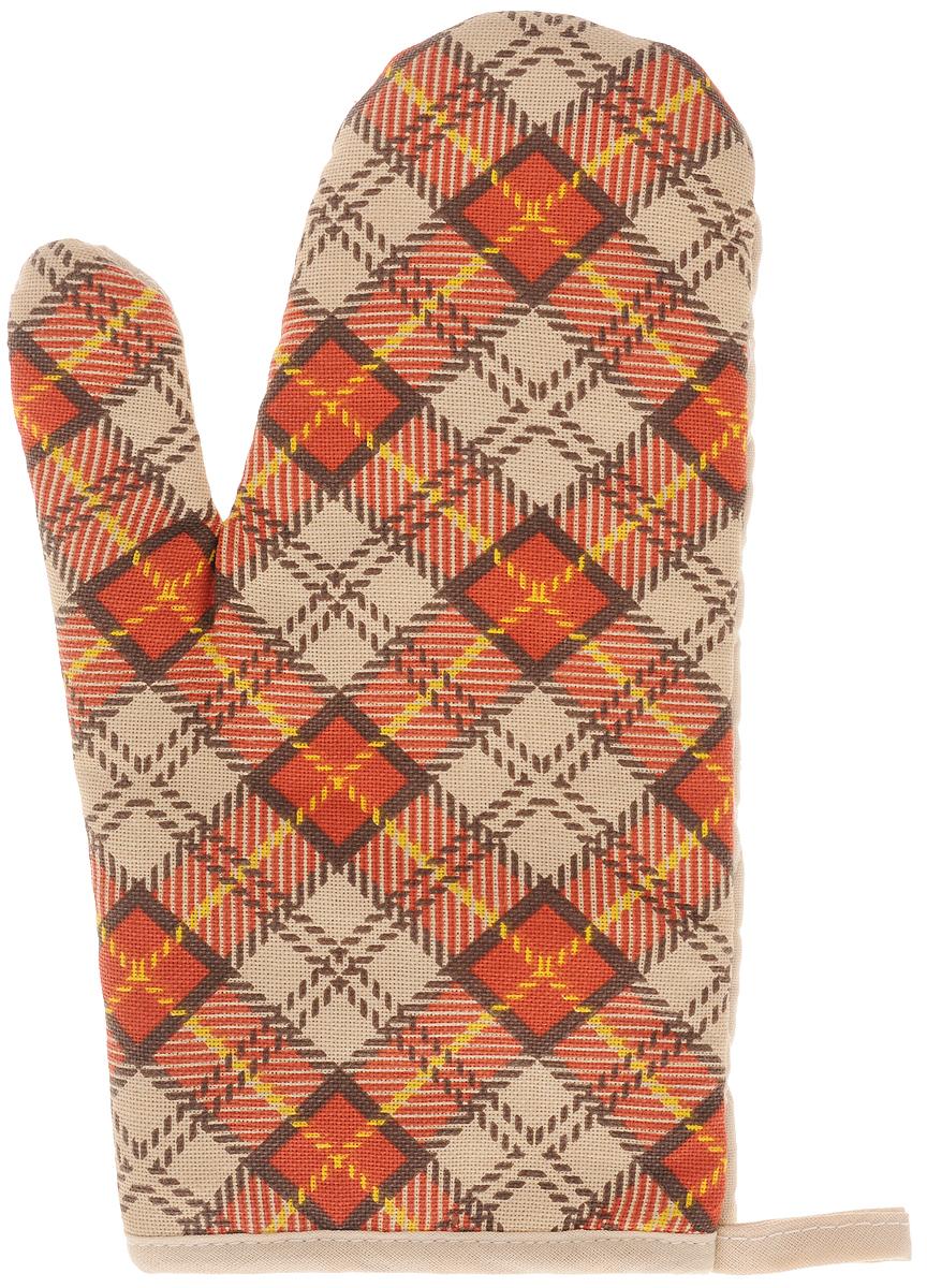 Рукавица Bonita Принц Уэльский, 16 х 28 см16010816397Прихватка для горячего Bonita, выполненная из натурального хлопка в виде красочной рукавицы, станет украшением любой кухни. С помощью специальной петельки рукавицу можно вешать на крючок. Отличный вариант для практичной и современной хозяйки.