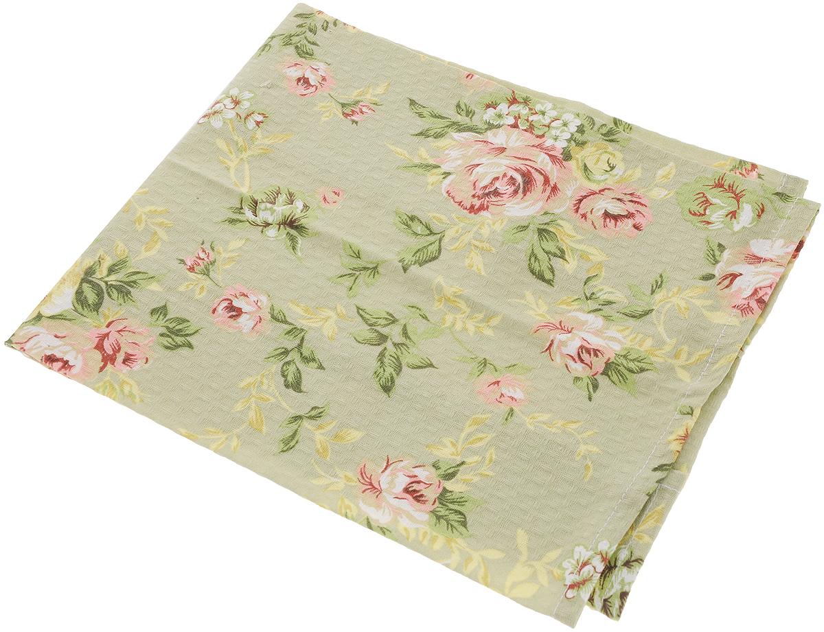 Полотенце кухонное Bonita Английская коллекция, цвет: зеленый, 44 х 60 см полотенце кухонное bonita белые росы цвет белый бежевый 35 х 61 см