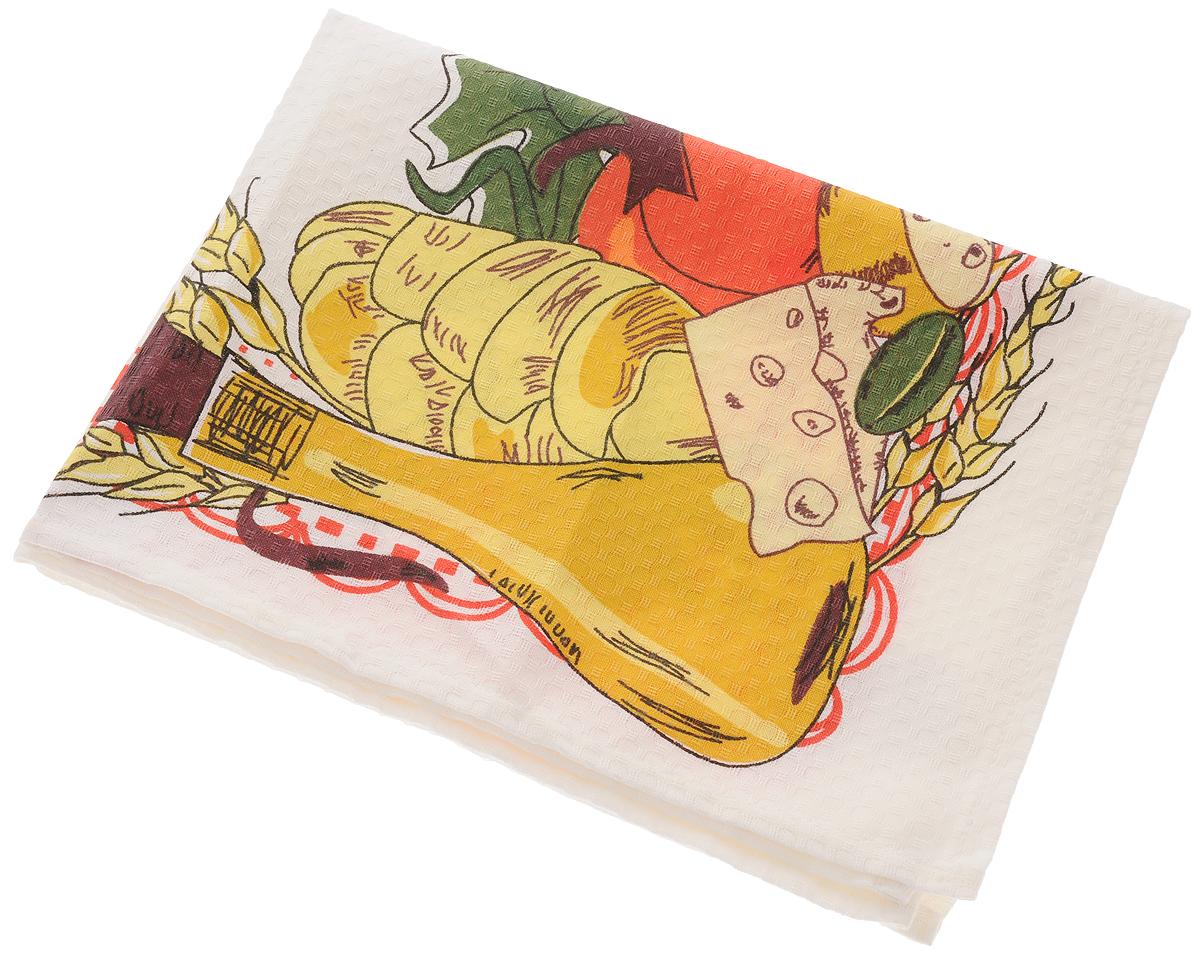Полотенце кухонное Bonita Натюрморт Сыры, цвет: белый, мультиколор, 44 х 59 см1010815855Полотенце кухонное Bonita изготовлено из натурального хлопка и оформлено рисунком с изображением сыров. Полотенце идеально впитывает влагу и сохраняет свою необычайную мягкость даже после многих стирок. Полотенце Bonita - отличный вариант для практичной и современной хозяйки.