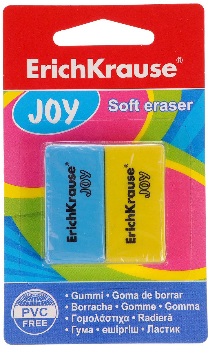 Erich Krause Набор ластиков Joy цвет голубой желтый 2 шт34650_голубой, желтыйНабор ластиков Erich Krause Joy станет незаменимым аксессуаром на рабочем столе не только школьника или студента, но и офисного работника. Ластики подходят для работы на всех видах бумаги.При стирании стружка от ластиков скатывается в единый комок, а не рассыпается по всей поверхности бумаги. Не повреждает бумагу.В наборе 2 ластика голубого и желтого цвета.