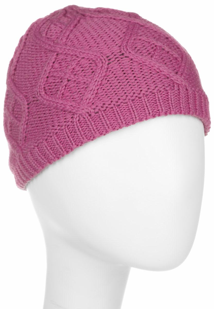 Шапка женская Jack Wolfskin Plait Cap W, цвет: розовый. 1902951-2099. Размер 51/54 шапка jack wolfskin jack wolfskin ja021cukhp70