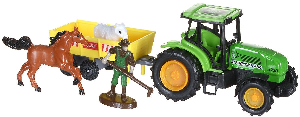 ТехноПарк Игровой набор Трактор tongde технопарк в блистере трактор в72180